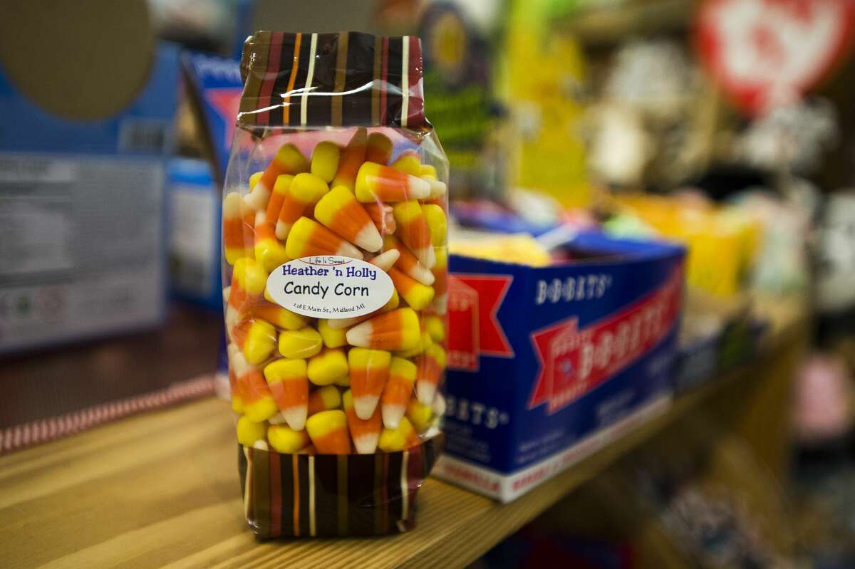 Candy corn is one of a variety of vintage candies available at Heather 'n Holly in downtown Midland. (Katy Kildee/kkildee@mdn.net)