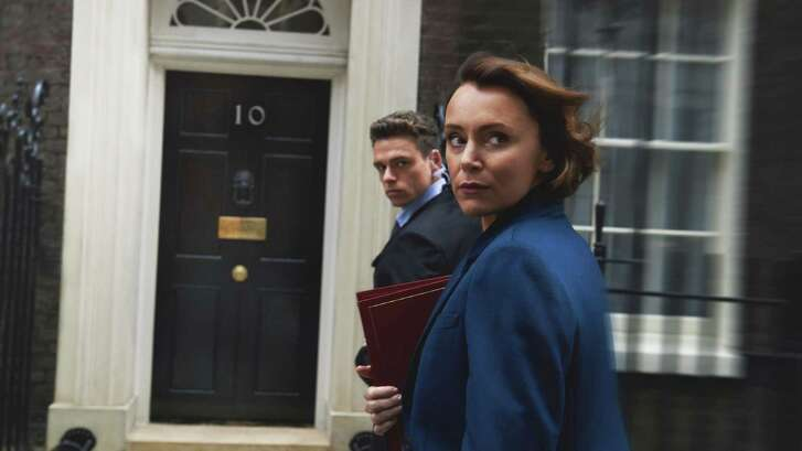 "Richard Madden, Keeley Hawes in the Netflix series ""Bodyguard."""