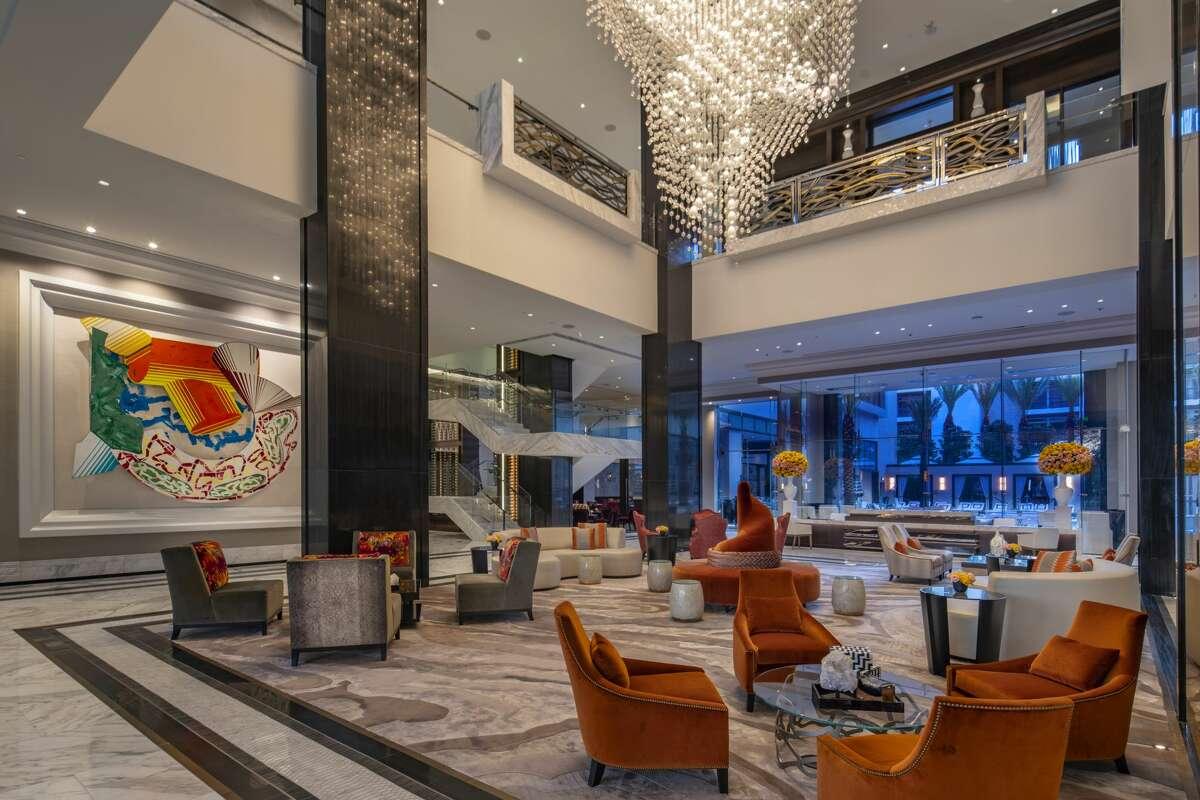 Frank Stella Hotel Lobby at Post Oak Hotel.