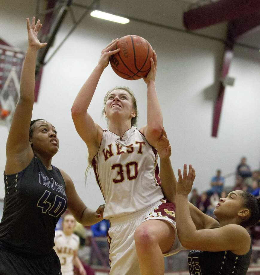 Magnolia West power forward Hannah Eggleston (30) averaged 15.8 points and 8.8 rebounds per game in 2017-18. Photo: Jason Fochtman, Staff Photographer / Houston Chronicle / © 2018 Houston Chronicle
