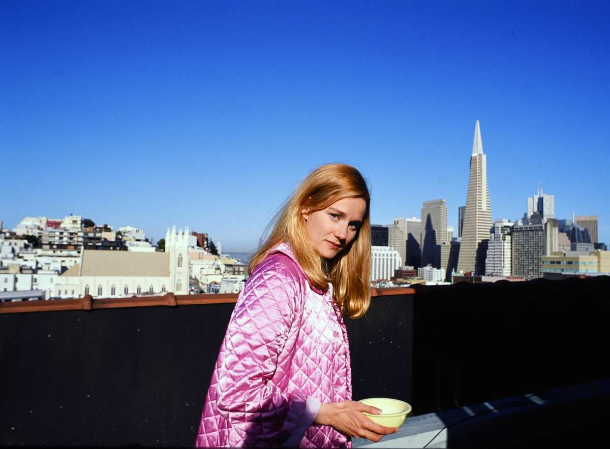 Laura Linney on the set of Tales in the City being filmed May 21, 1993 in San Francisco.