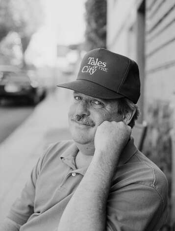 American writer Armistead Maupin, wearing a 'Tales of the City' cap, 21st June 1993. The first of his 'Tales of the City' series of novels was televised as a miniseries in 1993.  (Photo by Tim Roney/Getty Images) Photo: Tim Roney/Getty Images