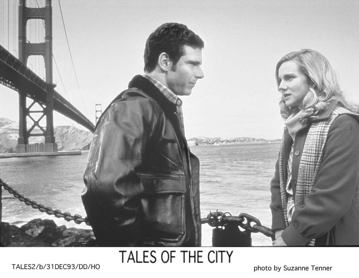 Photos from the original 'Tales of the City' Laura Linney and Marcus D'Amico in Tales of the City which is a series of nine novels written by American author Armistead Maupin. In 1993 the first book was made into a television miniseries, produced by Channel 4 in the UK and screened by PBS in the U.S. the next year. Laura Linney on the set of Tales in the City being filmed May 21, 1993 in San Francisco.