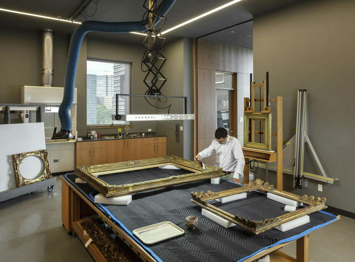 Frames in the MFAH's collections are as carefully preserved as the works of art they contain. The framing studio inside the new Sarah Campbell Blaffer Foundation Center for Conservation gives specialists state-of-the-art working facilities adjacent to the painting studio.