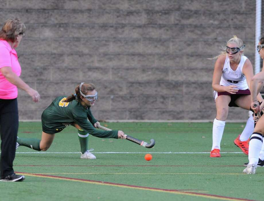 Field hockey match between Greenwich Academy and Loomis Chaffee at Greenwich Accademy, Conn., Wednesday, Oct. 24, 2018. Photo: Bob Luckey Jr. / Hearst Connecticut Media / Greenwich Time