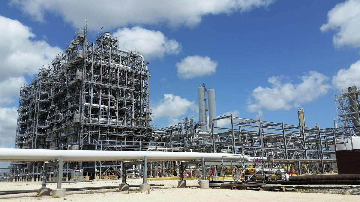 Ethylene crackers like this one at Dow Chemical Co's. petrochemical complex near Freeport, Texas, turn natural gas components into ethylene, which is used to make plastics and other products. The unit is one of two at the Dow complex, and a third is under construction.