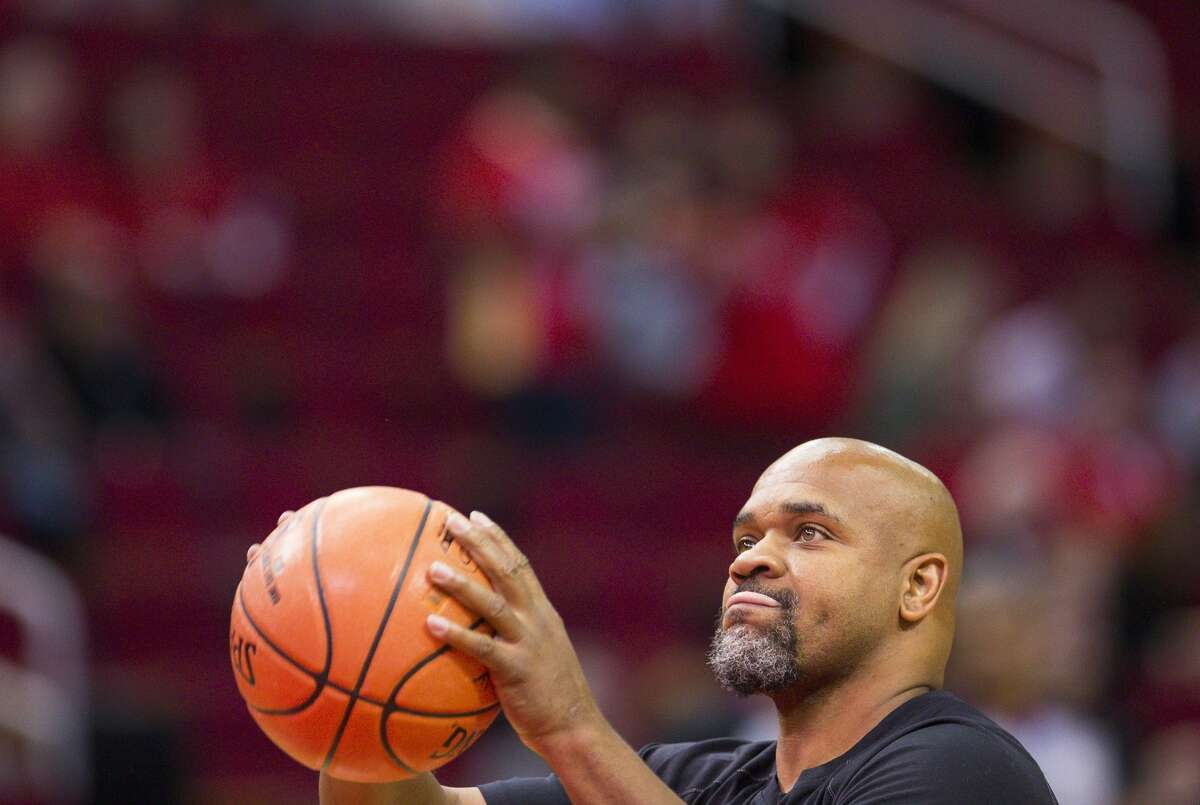 Oct. 24, 2018 Moochie Norris, former Rockets player Made it Rockets lost to the Jazz, 100-89