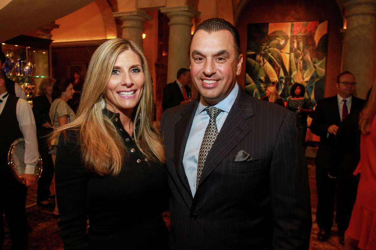Honoree Gina and Dr. Devinder Bhatia at the Best Dressed announcement party.