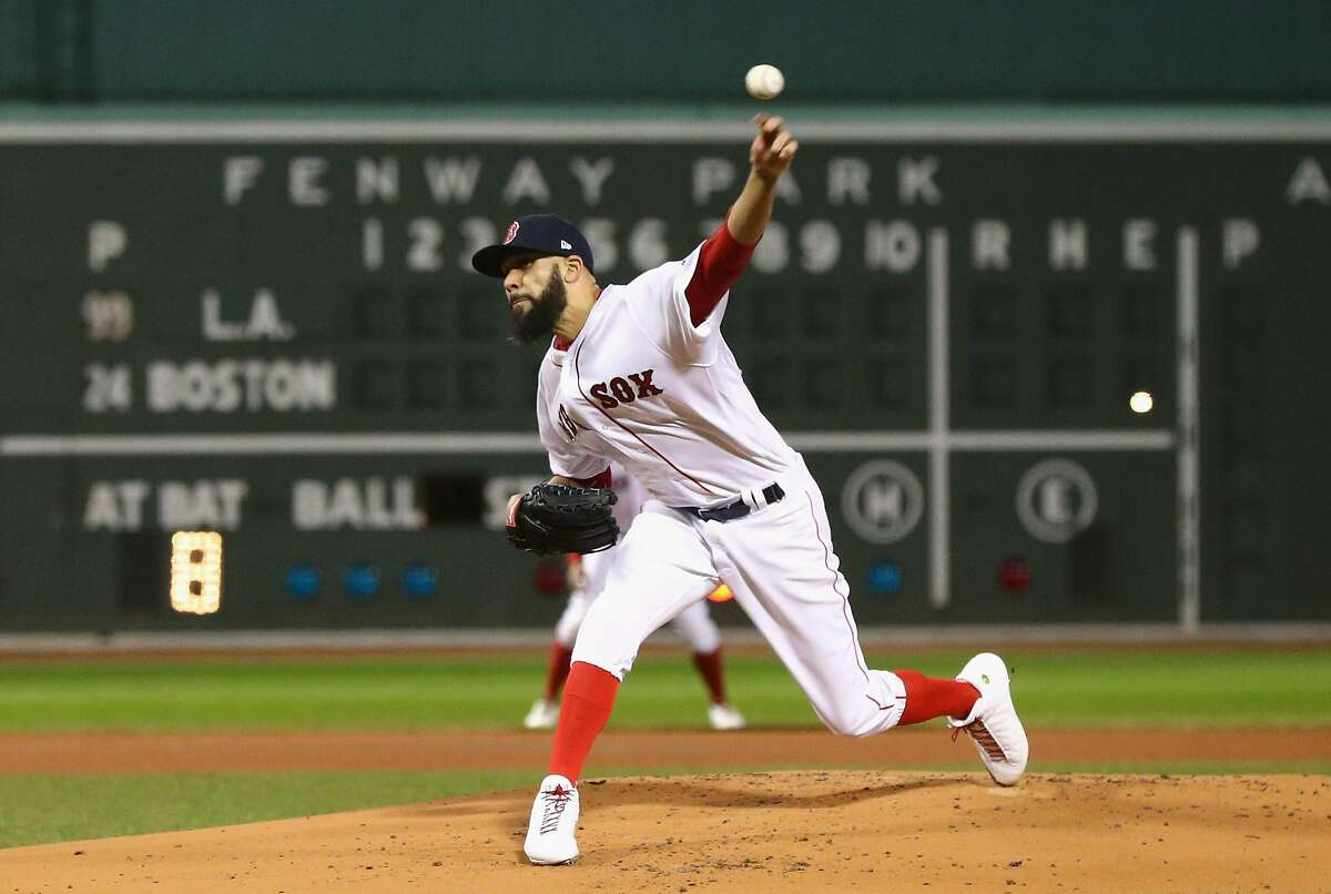 BOSTON, MA - OCTOBER 24: David Price #24 of the Boston Red Sox delivers the pitch during the first inning against the Los Angeles Dodgers in Game Two of the 2018 World Series at Fenway Park on October 24, 2018 in Boston, Massachusetts. (Photo by Maddie Meyer/Getty Images)