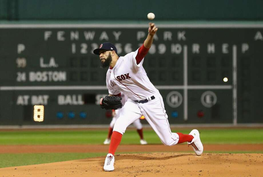 David Price #24 of the Boston Red Sox delivers the pitch during the first inning against the Los Angeles Dodgers in Game Two of the 2018 World Series at Fenway Park on October 24, 2018 in Boston, Massachusetts. (Photo by Maddie Meyer/Getty Images) Photo: Maddie Meyer / Getty Images