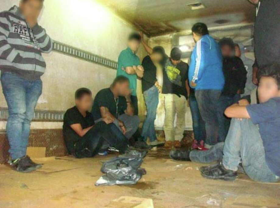 Border Patrol agents discovered 16 undocumented immigrants inside a box truck during inspection. Photo: Border Patrol