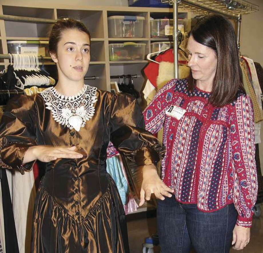"Lead cast members of The John Cooper School's upcoming production of ""A Little Princess"" were fitted for costumes with the assistance of Lisa Hollingsworth, co-president of The Fine Arts Council, and alum parent Joe Cousins."