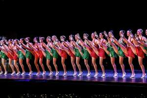 """The Rockettes in the """"Radio City Christmas Spectacular,"""" at Radio City Music Hall in New York, Nov. 20, 2015. The Rockettes once again are kicking off the holiday season at Radio City Music Hall, with a few new flourishes, a tradition that began in 1933. (Krista Schlueter/The New York Times) ORG XMIT: XNYT146"""