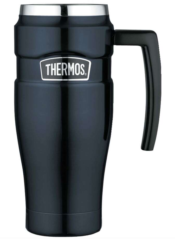 Thermos 16-ounce travel mug. (Via walmart.com)