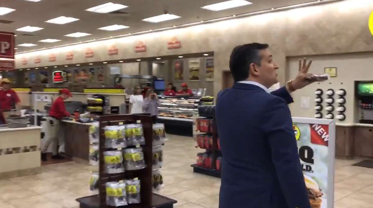 Ted Cruz During the peak of the 2018 election season, the Texas Senator uploaded a video to his Twitter account that showed him strolling through a Buc-ee's carrying a 12-pack of Shiner Bock Beer. He also thanked a customer, who, in return, shouted