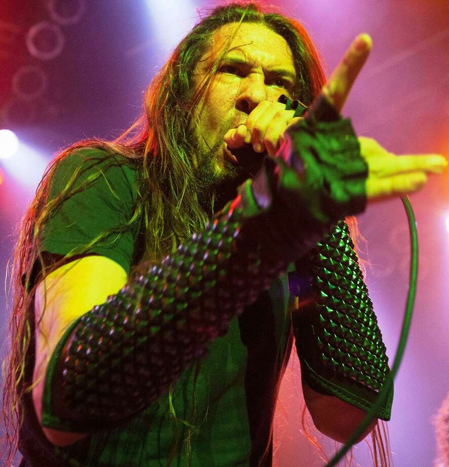 Ben Falgoust of Goatwhore performs in concert at House Of Blues Chicago on April 25, 2014 in Chicago, Illinois. Photo: Getty Images / Getty Images / 2014 Gabriel Grams