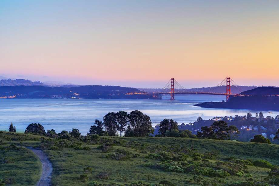 A 110-acre parcel of undeveloped land known as Easton Point in Tiburon, Calif., is listed for $110 million. Photo: Jason Wells