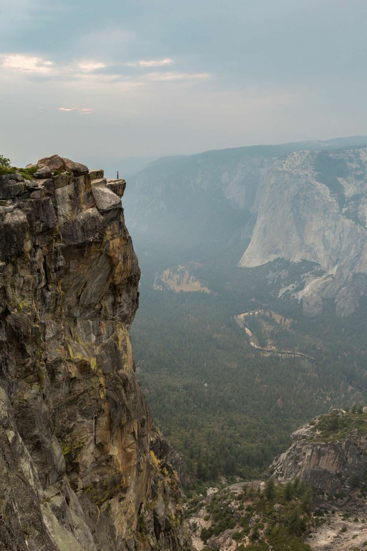 A man and woman fell from the Taft Point View in Yosemite Valley on Thursday.