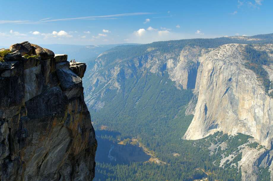 West view from the promontory point in autumn, Taft Point overlook, Yosemite Valley and El Capitan, Taft Point, Yosemite National Park. On Thursday, apparently two visitors fell through the lookout in the death. Photo: VW Pics / UIG About Getty Images