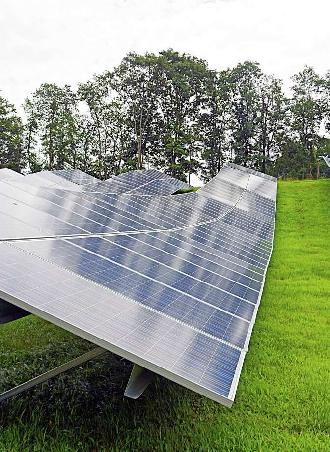 Greenskies Renewable Energy recently completed installation of a solar array on city property adjacent to the Higby Water Treatment Facility in Middletown. Photo: Cassandra Day / Hearst Connecticut Media
