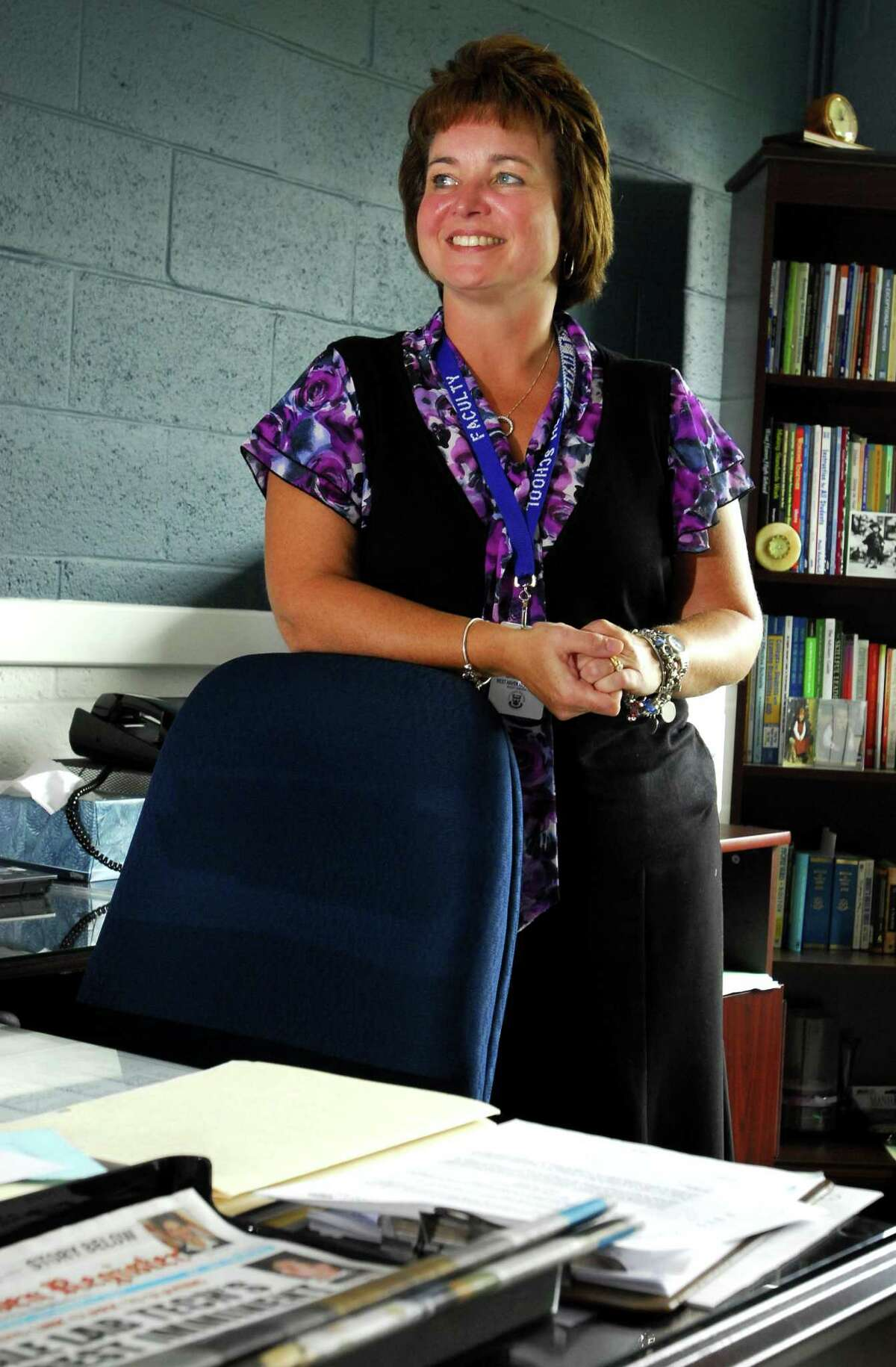 File photo by Peter Hvizdak - West Haven, Connecticut- September 18, 2009: Pamela Bellmore Gardner when she took over as West Haven High School principal. Gardner died Thursday after a 16-month battle with a rare form of cancer, neuroendocrine tumors in her stomach.