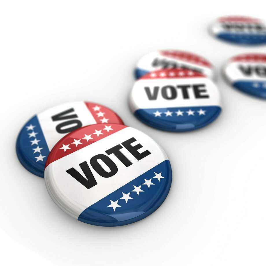 Get out and vote button Photo: Matthiashaas/iStock/Getty Images, Getty Images/iStockphoto