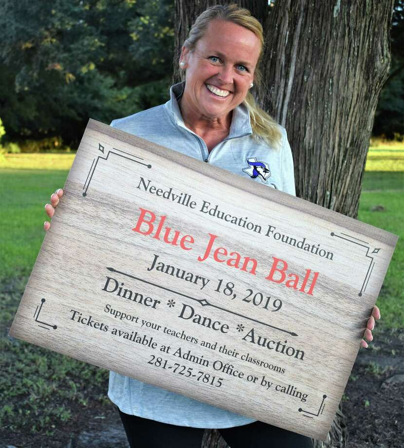 Needville Education Foundation Executive Director Shelley Krauss is hard at work on plans for the annual Blue Jeans Ball benefiting Needville ISD students and teachers. The fun begins at 5 p.m. Friday, Jan. 18. Tickets can be purchased by emailing krausss@needvilleisd.com or calling 281-509-5524 or 281-725-7815. Photo: Needville Education Foundation / Needville Education Foundation