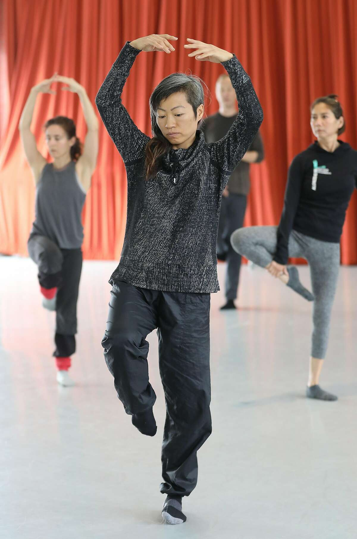 Priscilla Park takes an advanced contemporary dance class at ODC on Thursday, Oct. 25, 2018 in San Francisco, Calif. Prop E, a measure on the SF ballot would link arts and cultural funding, like ODC, a contemporary dance and arts organization founded in 1971, to the city's hotel tax.