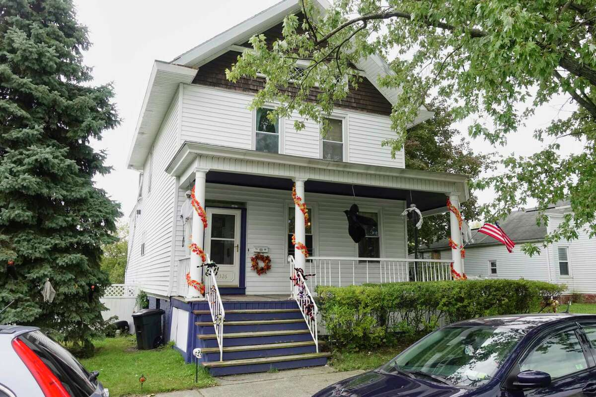 A view of the home of Mindy Connors on Wednesday, Oct. 24, 2018, in Watervliet, N.Y. Connors and her family say that they sense and see spirits in their home. The home,which Connors was born and raised in, was built in 1850. (Paul Buckowski/Times Union)