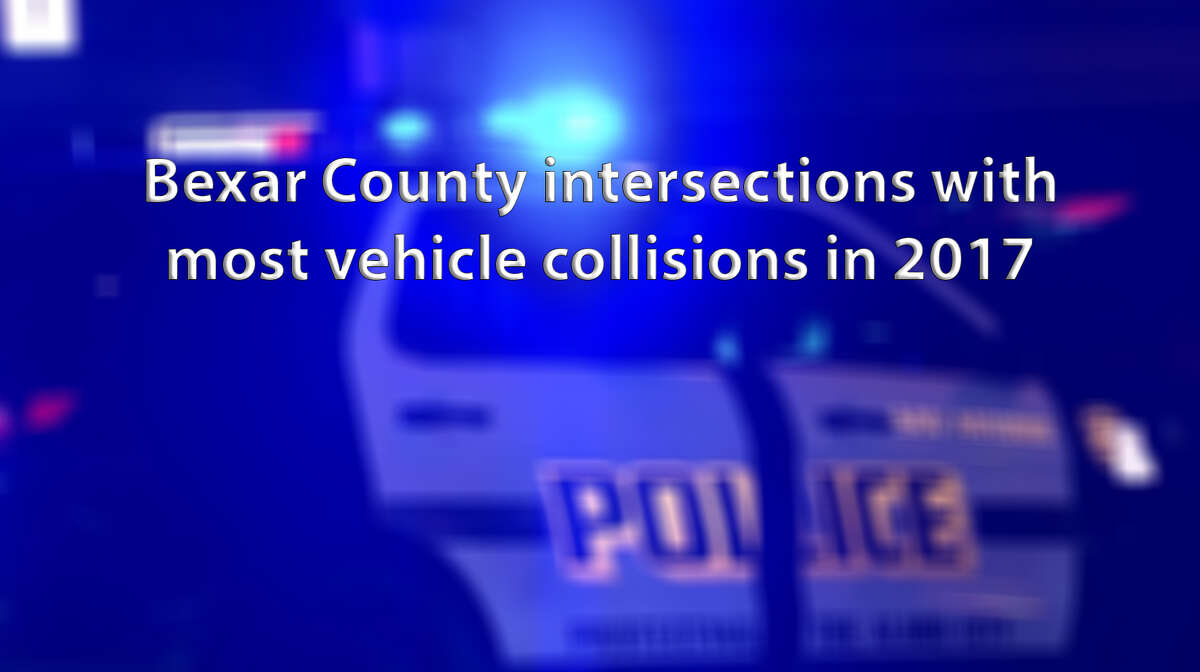 About 50,000 vehicle collisions occurred in Bexar County in 2017. Click through the slideshow to see which spots had the highest number of collisions.