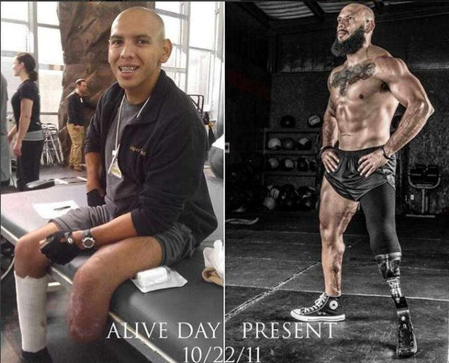 Jose Luis Sanchez uses his gym - and his Instagram account - to inspire others after recovering from losing a leg in Afghanistan. Photo: Jose Luis Sanchez