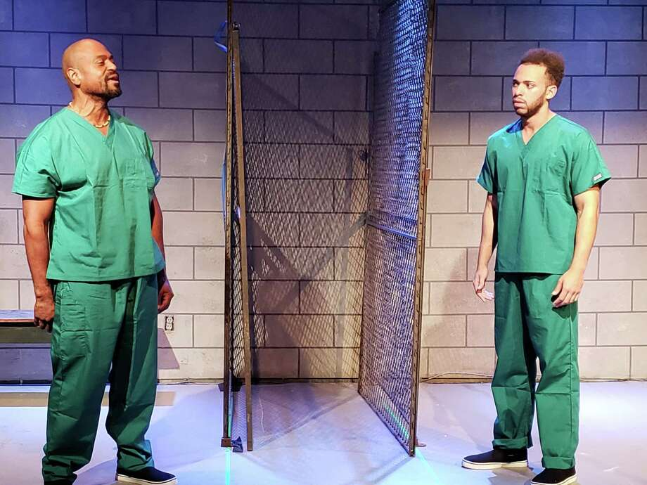 Terrence Riggins, left, as Lucius, and Jhulenty Delossantos as Angel. Photo: Courtesy Of Dexter Singleton