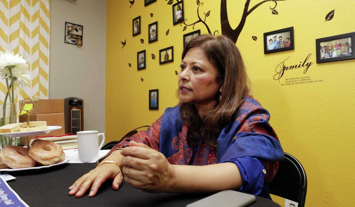 Dr. Aisha Siddiqui, Founder and CEO of CHAT, Culture of Health Advancing Together, talks in their offices Thursday, Oct. 25, 2018 about the Gulfton Story Trail that incorporates 12 murals in various Gulfton neighborhoods Houston, TX.