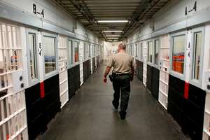 Watch Commander, Lt. Tilton, inside the San Francisco County Jail facility located at the Hall of Justice Building, in San Francisco, Calif. on Thursday July 12, 2012. Unlike many counties, San Francisco's County Jail population was low before realignment and remains low after. Many inmates were moved from state prisons to county jails throughout California, to battle overcrowding in the state facilities.