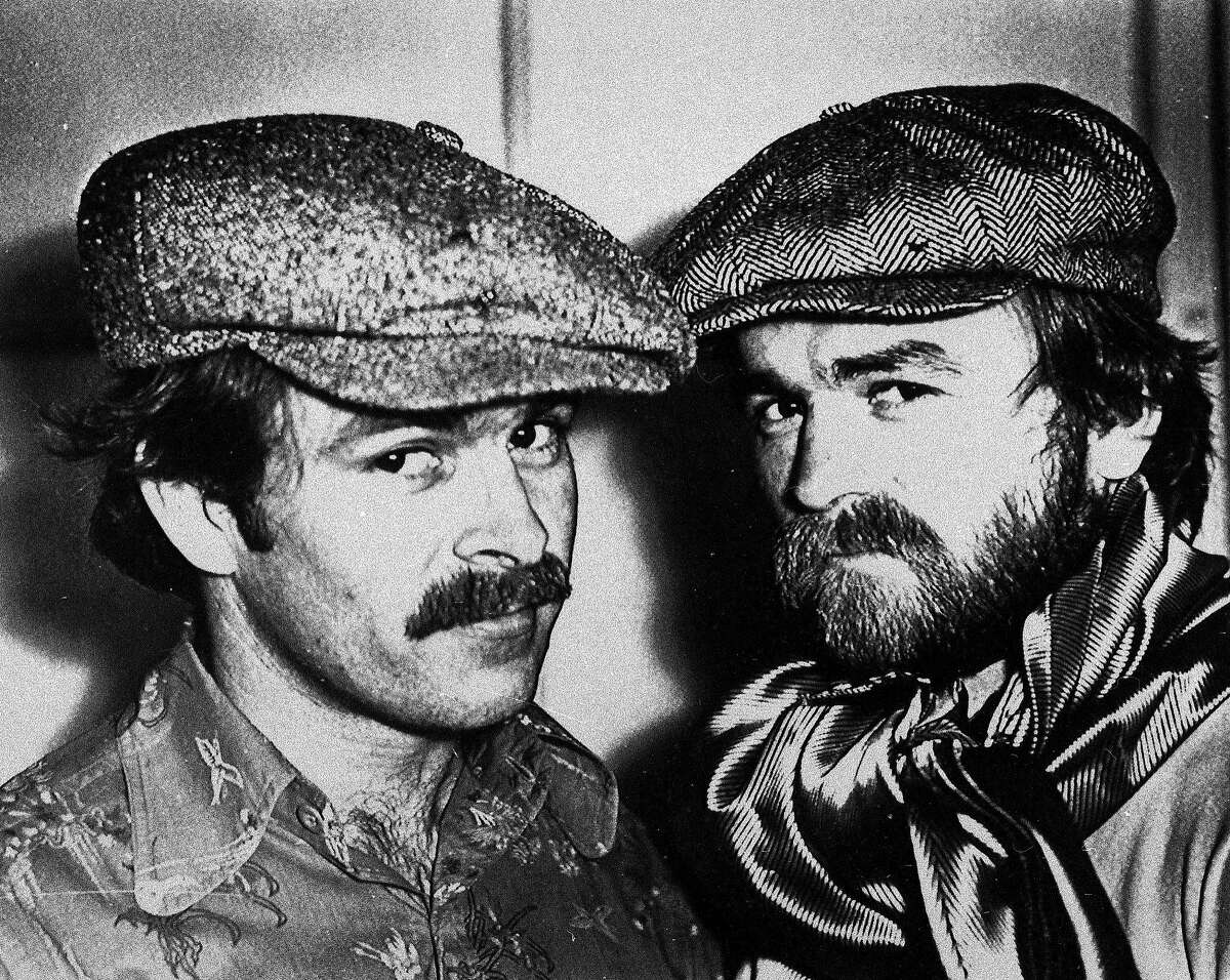 Pornography king Artie Mitchell is shown at right in this 1977 photo with his brother Jim. (AP Photo)