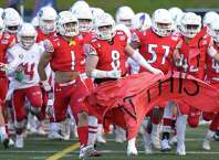 Greenwich defeats Fairfield Ludlowe 56-7 in an FCIAC varsity football game at Cardinal Stadium on Thursday, Oct. 24, 2018 in Greenwich, Connecticut.