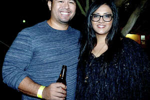 Jeremy Fermo and Ana Garcia were at the Heritage Happy Hour and Haunted Chambers House tours Thursday. Photo taken Thursday, October 25, 2018 Kim Brent/The Enterprise