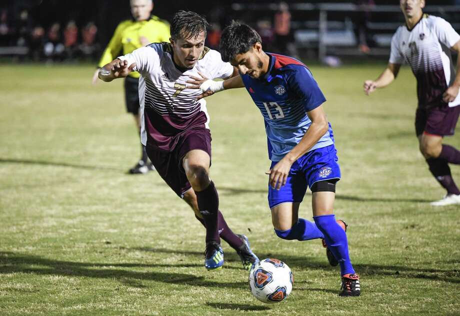 Charlie Michel had a goal on Thursday night in the Dustdevils' 3-2 loss at St. Mary's as their hopes for winning the South division were ended. Photo: Danny Zaragoza /Laredo Morning Times File