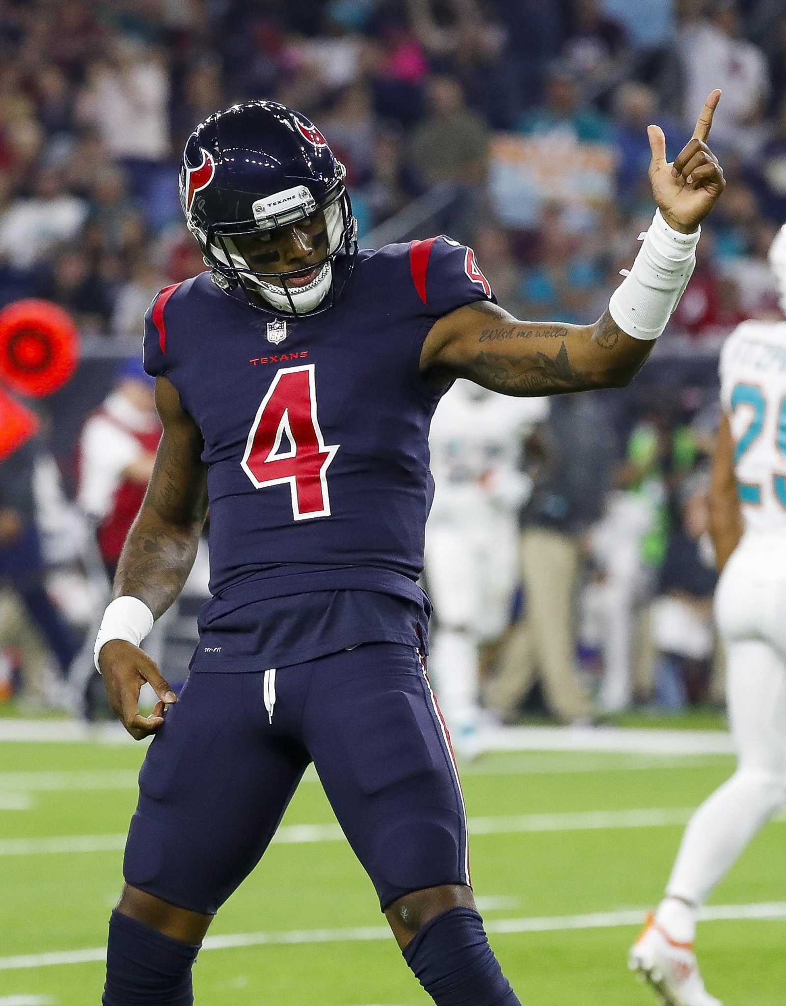 726c6ab0f Texans  Deshaun Watson does a victory lap around Dolphins  Brock Osweiler