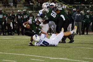 Friendswood linebacker Dane Roenne (10) leads a Mustang defense which should be one of the best in the area.