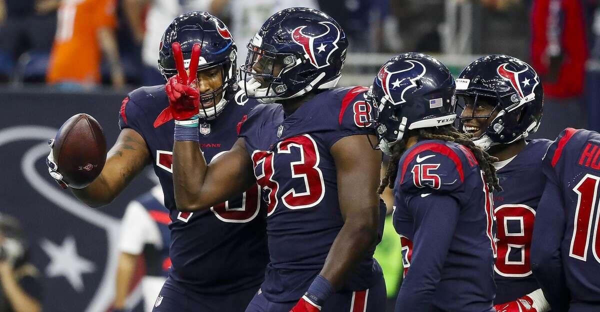 Texans rookie TE Jordan Thomas delivers pair of touchdowns