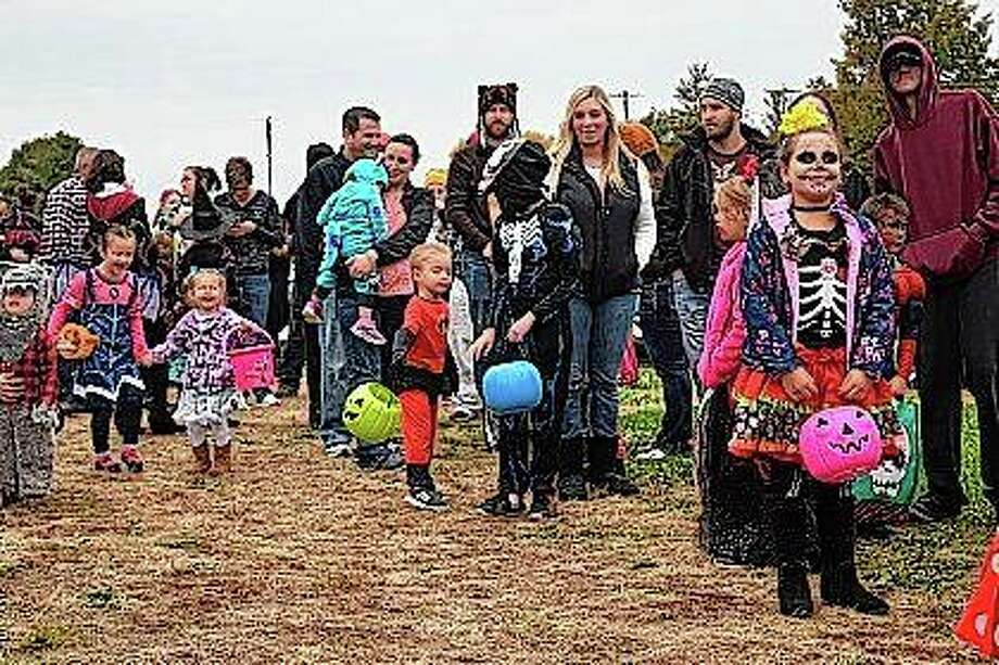 Monsters, ghouls, ghosts, goblins, and a cartoon character here or there gathered outside of the Prairie Land Heritage Museum on Thursday for the WJVO Safe Halloween for Kids.