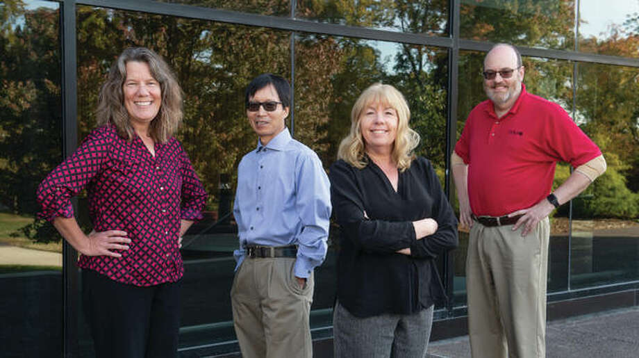 From left: SIUE researchers Drs. Georgia Bracey, Shunfu Hu, Sharon Locke and Thomas Foster. Photo: SIUE Photo