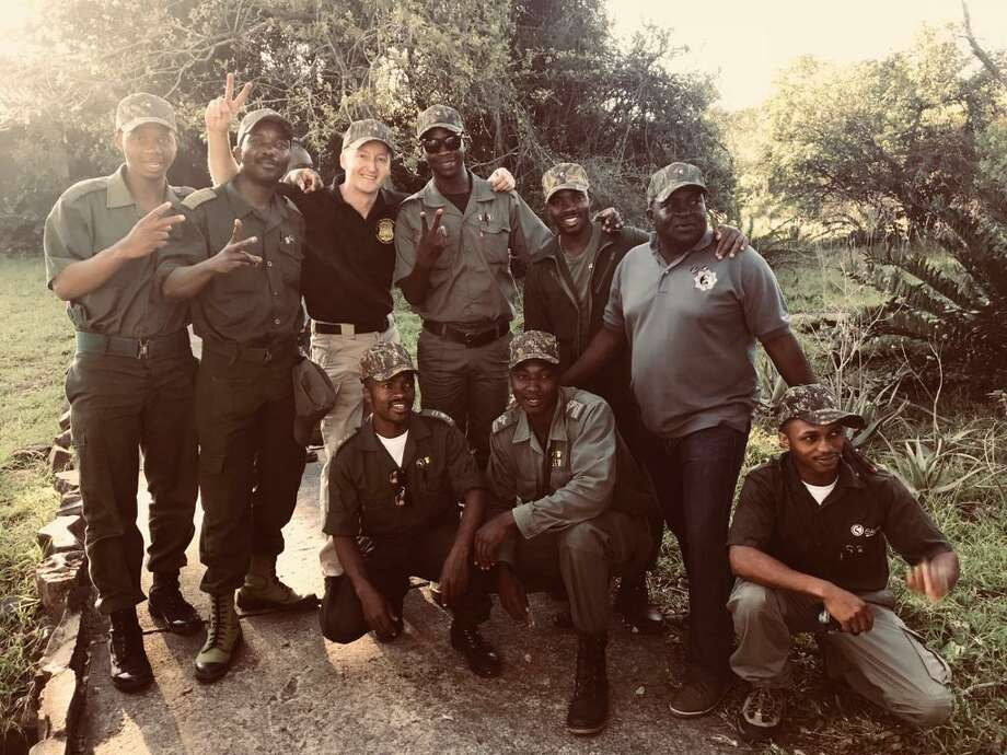 State DEC Capt. Jesse Paluch was part of a five-person crew that traveled to South Africa for ten days to train about 20 wildlife officers from South Africa. (New York State Department of Environmental Conservation)