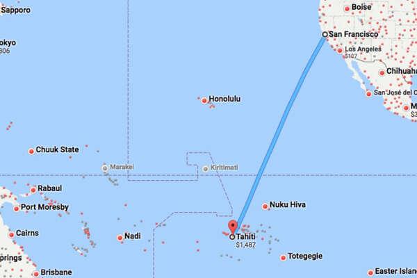 United's San Francisco-Tahiti service starts next week.