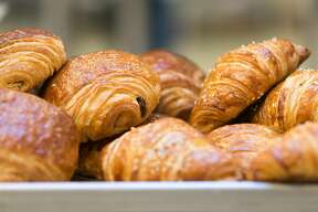 Homemade butter and chocolate croissants at Vive la Tart on Howard Street.
