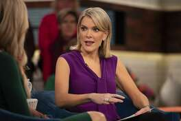 """In this Oct. 18, 2018 photo released by NBC, host Megyn Kelly appears on her show """"Megyn Kelly Today,"""" in New York. Kelly remains absent from her NBC morning show while the company acknowledged on the """"Today"""" show that her future with the network is in doubt. (Nathan Congleton/NBC via AP)"""