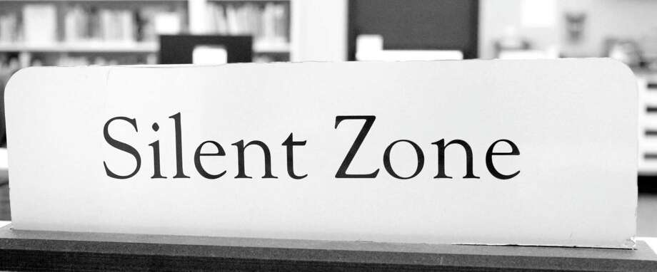 Entering the silent zone at the Fairfield Woods Library Photo: Genevieve Reilly / Hearst Connecticut Media / Fairfield Citizen