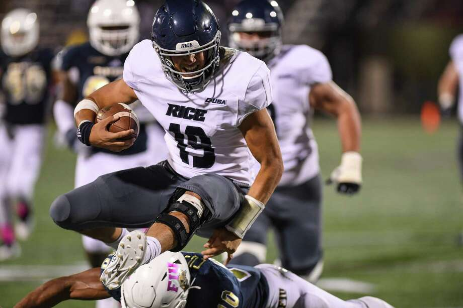 MIAMI, FL - OCTOBER 20: Evan Marshman #19 of the Rice Owls runs for a touchdown in the second half against the FIU Golden Panthers at Ricardo Silva Stadium on October 20, 2018 in Miami, Florida. Photo: Mark Brown, Getty Images / 2018 Getty Images
