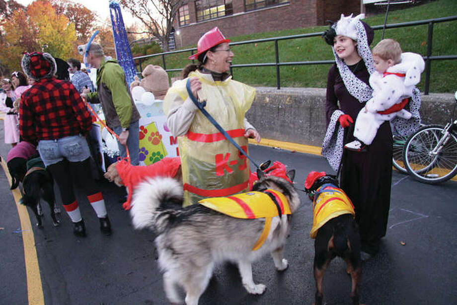 Participants prepare to take part in a previous Halloween Parade. Photo: Intelligencer Photo